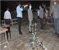 جولة ليلية لمحافظ الغربية بقطور لمتابعة تطبيق الإجراءات الاحترازية