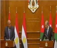 شكري: ننسق مع الأردن لتطوير العلاقات الثنائية والتصدي للتحديات الإقليمية