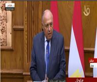 وزير الخارجية: نصف مليار دولار لتحسين الوضع المعيشي فى غزة  فيديو