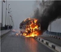 إخماد حريق بسيارة نقل في المنصورة