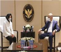 السفير المصري يلتقي وزيرة الشئون الاجتماعية بإندونيسيا