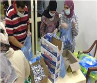 ١٨٢٠ وجبة غذائية لدعم رجال الإسعاف والهلال الأحمر بمعبر رفح