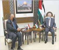 شكرى يلتقي الملك عبدالله والرئيس محمود عباس