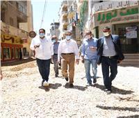 محافظ الغربية يتابع أعمال الرصف بشوارع مدينة المحلة الكبرى