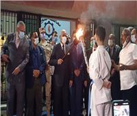 إيقاد شعلة أولمبياد الطفل المصرى في السويس