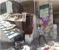 إزالة 4 أكشاك بحرم الطريق العام في الإسكندرية  صور