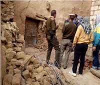 مصرع شاب بعد انهيار أحد جدارن منزله عليه بسوهاج