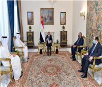 الرئيس السيسي يستقبل وزير الخارجية القطري  صور وفيديو