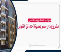 إنفوجراف   تعرف على مواعيد استلام وحدتك فى مشروع دار مصر بمدينة حدائق أكتوبر