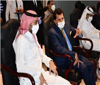 وزير الرياضة ورئيس الاتحاد العربي يشهدان مباراة المغرب والسعودية بكأس العرب للصالات