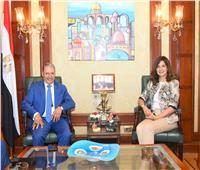 وزيرة الهجرة تستقبل النائب إبراهيم المصري وكيل لجنة الدفاع والأمن القومي بمجلس النواب