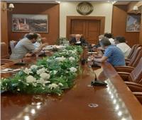"""محافظ بورسعيد يتابع سير العمل فى إنشاء """"ساحة مصر"""""""