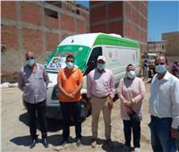 الكشف على 1446مريضًا في قافلة طبيةمجانية بمركز أبو المطامير