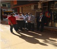 محافظ المنوفية يتفقد أعمال الرصف والتطوير بعدد من الشوارع