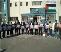 قيادات «حماة الوطن» يزورون الجرحى الفلسطينيين بمستشفى العريش العام
