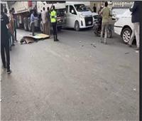 إصابة شخصين فى تصادم مروع بين سيارتين بمنطقةجسر السويس