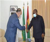 رئيس جمهورية غينيا بيساو يستقبل السفير المصري في كوناكري
