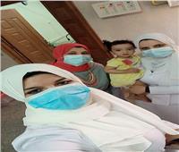 تعافي الطفلة «جنا» من فيروس كورونا بمستشفى سوهاج العام