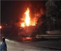 الحماية المدنية تسيطر على حريق في حظيرة ماشية بالدقهلية