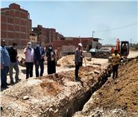 البدء في اعمال حفر مشروع الصرف الصحي بقويسنا
