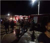 23 سيارة إطفاء لإخماد حريق مصنع أحذية بركة السبع.. وإصابة عامل