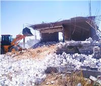 إزالة تعديات على 3000 متر أراضي زراعية غرب الإسكندرية