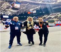 وزير الرياضة يهنىء سمر حمزة بالفوز ببطولة الجائزة الكبرى للمصارعة بروسيا