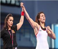 «الأولمبية» تشيد بذهبية سمر حمزة في بطولة الجائزة الكبرى للمصارعة