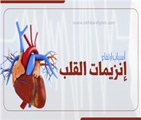 إنفوجراف  أسباب ارتفاع إنزيمات القلب