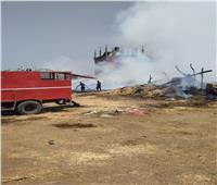 اللقطات الأولية من  حريق مصنع الكتان بسمنود    فيديو