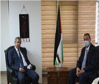 سفير فلسطين يلتقي أمين عام مساعد الصندوق العربي للمعونة الفنية للدول الأفريقية