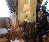 أبوالغيط يستقبل رئيس البرلمان العربي بمقر الجامعة العربية