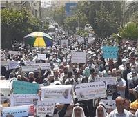 مسيرة احتجاجية حاشدة في غزة ضد مدير وكالة «الأونروا».. صور