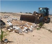 إزالة تعديات وبناء مخالف بقريتي شوشة والعزيمة في المنيا | صور