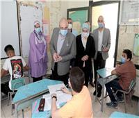 طلاب الشهادة الإعدادية يؤدون امتحان اللغة العربية ببني سويف