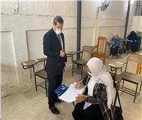 رئيس جامعة مطروح يتفقد لجان الامتحانات بكلية التربية