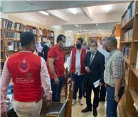 رئيس جامعة مطروح يتابع تلقي أعضاء هيئة التدريس لقاح كورونا