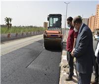 محافظ أسيوط يتفقد أعمال رصف الطريق الدائري وتطوير الشوارع