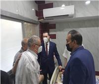 نائب محافظ كفر الشيخ يطمئن على مصابي حريق منزل بمدينة مسير