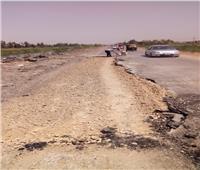 مركز المحلة يشهد أعمال دهان أعمدة الإنارة وإصلاح الطرق