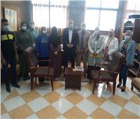 حملة للتوعية بلقاح كورونا وأضرار الفطر الأسود بسيناء