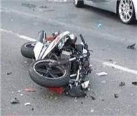 مصرع مسن إثر تصادم سيارة بدراجته البخاريه على طريق أجا بالدقهلية