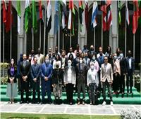 الوفود المشاركة في منحة ناصر للقيادة الدولية في زيارة لجامعة الدول العربية