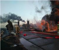 اشتعال النيران في 18 خزانًا للنفط في مصفاة طهران