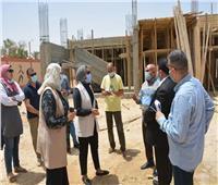نائب محافظ الوادي الجديد تتفقد أعمال تطوير قرية الشركة ٨ بالخارجة