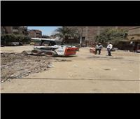 حملة نظافة وإشغالات وإزالة إعلانات مخالفة ببركة السبع