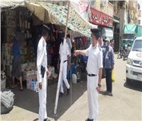 تحرير 138 محضرا في حملة مكبرة لإعادة النظام إلى شوارع الأقصر
