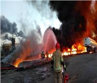 بعد 10 ساعات السيطرة على حريق في مصفاة نفط طهران