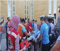 عودة 6 جرحي بعد علاجهم الي قطاع غزة