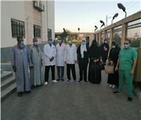 خروج 11 حالة من مستشفى قطور بعد تعافيهم من كورونا